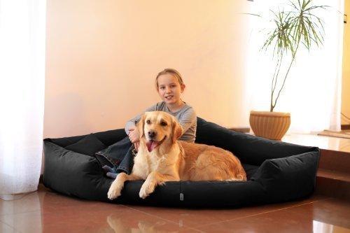 Artikelbild: TR5-03 Hundebett TRIVIA Eckbett Eckhundebett Hundesofa Hundebett Gr. XL 120cm SCHWARZ