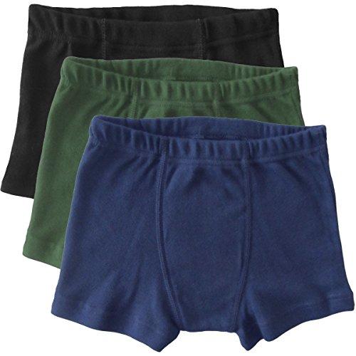 feinrippunterwaesche HERMKO 2900 3er Pack Jungen Pants - Reine Baumwolle, Größe:152, Farbe:Mix s/m/o