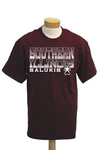 CI Sport NCAA Südliche Illinois Salukis Acho T-Shirt Kurzarm, Herren, kastanienbraun, XX-Large -