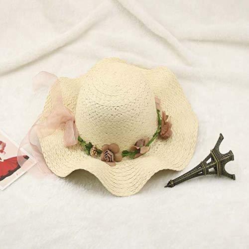 zhuzhuwen Weibliche Eltern-Kind-Modelle, Sonnenschutzbogen, Mädchen, Sonnenhut, großer Hut, Sonnenhut 6 Kind