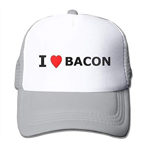 - I Heart Bacon - Vintage Style Trucker Hat Retro Mesh Cap