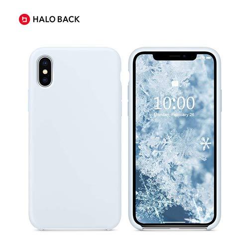 Halo Back Liquid Silikon Schutzhülle für iPhone X/XS/XR/XS Max (Sky Blue, XS Max), X/XS, himmelblau Iphone Sky Blue Skin
