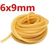 CAMTOA 6x9mm Natural Latex Rubber Band Elastic Tube Powerful Slingshot Catapult Replacement Parts 1/3/5/10M-Medium Strength