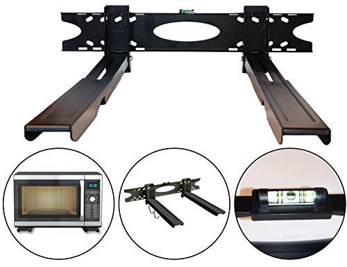 Mikrowellenhalterung Halterung für Mikrowelle Wandhalterung Universalhalterung mit Mini-Wasserwaage ausziehbar 32,5-52,5 cm