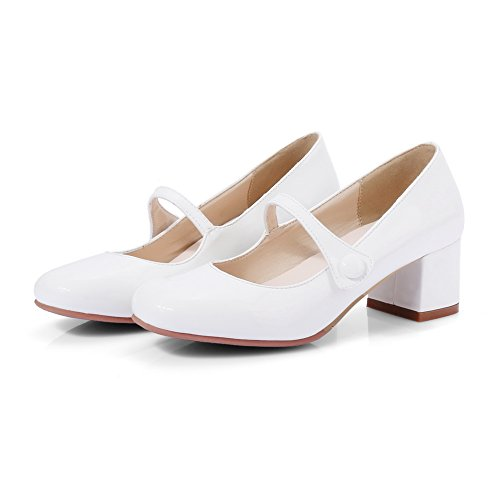 Balamasaapl10267 - Sandales Compensées Femme Blanche