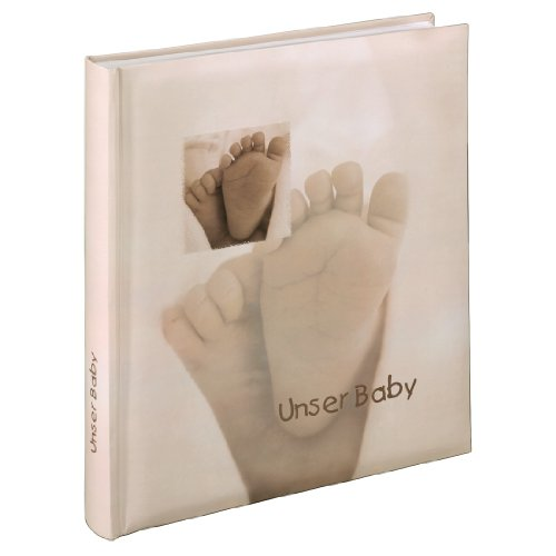 Hama Babyalbum Baby Feel, Fotoalbum mit 29 x 32 cm, 60 Seiten, 60 Blatt, 300 Fotos, sand