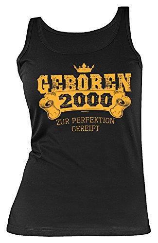 Damen Trägershirt 18 Geburtstag Frau - Geburtstagshirt Mädchen - Jahrgang 2000 : Geboren 2000 zur Perfektion gereift - Geschenk-Idee 18.Geburtstag Mädchen-Shirt Tank Top Gr: XL (T-shirt Mädchen Geboren)