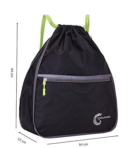 YAAGLE Unisexe Sac à Dos en Nylon Imperméable Pliable Sac de Sport/Gym/Ecole/Voyage Violet