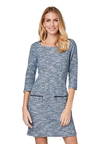 TOM TAILOR für Frauen Kleider & Jumpsuits Bouclé-Kleid Navy Structure, 42