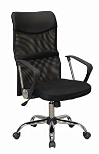 Charles Jacobs MESH LUXURY EXECUTIVE COMFORTABLE OFFICE CHAIR in BLACK with High Back, new 2013 BUSINESS ERGONOMIC DESIGN +TILT MECHANISM