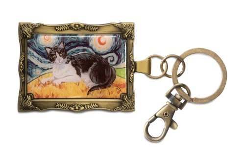 pavilion-gift-company-12023-paw-palettes-keychain-2-by-2-3-4-inch-tuxedo-cat-van-meow