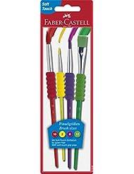 Faber-Castell 481600 Pinselset 4-teilig mit Softgriffstück