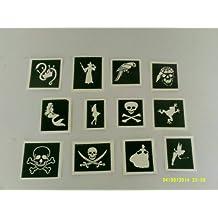30 x principessa e pirati tema stencil per scintillio tatuaggi / vernice viso / molti usi other