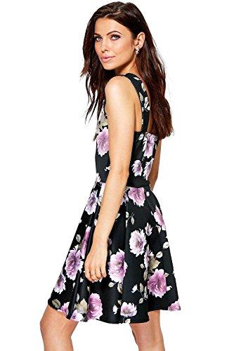 Multi- Damen Jacinta Blumen Schatz Skater-Kleid Multi