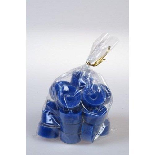20 original Dänische Teelichter ohne Duft im Acryl-Cup farbig durchgefärbt marineblau - Blau Duft