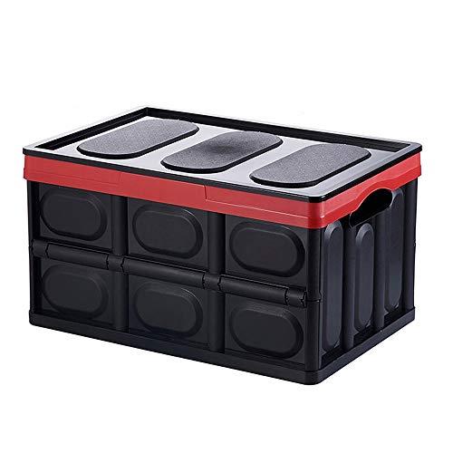 Preisvergleich Produktbild Wangmy Auto Aufbewahrungsbox Kofferraum Faltbare Auto Aufbewahrungsbox Multifunktions Auto Aufbewahrungsbox Schwanz Aufbewahrungsbox 55L (Farbe : SCHWARZ)