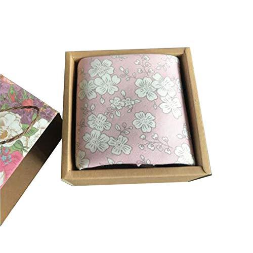 Chinashow Womens/Girls Vintage Floral Print Baumwolle Taschentücher Floral Taschentuch mit Geschenkbox A09