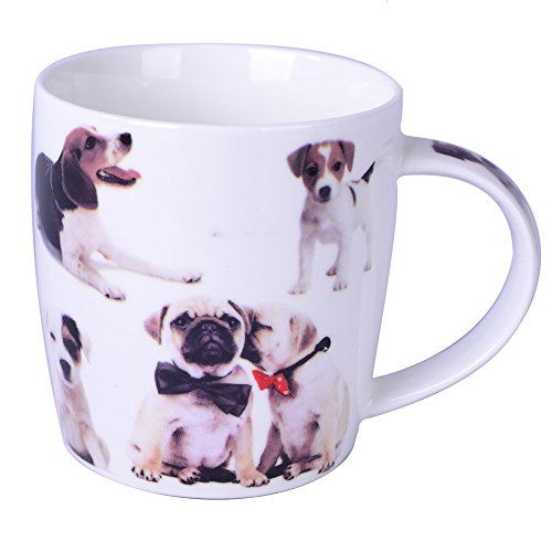 Silicone Gold Chat Mug, Porcelaine, Multicolore, 13 x 10 x 8 cm