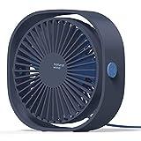 COMLIFE Ventilador USB de Escritorio Potente y Silencioso Mini Fan de Mesa Personal 3 Velocidades...