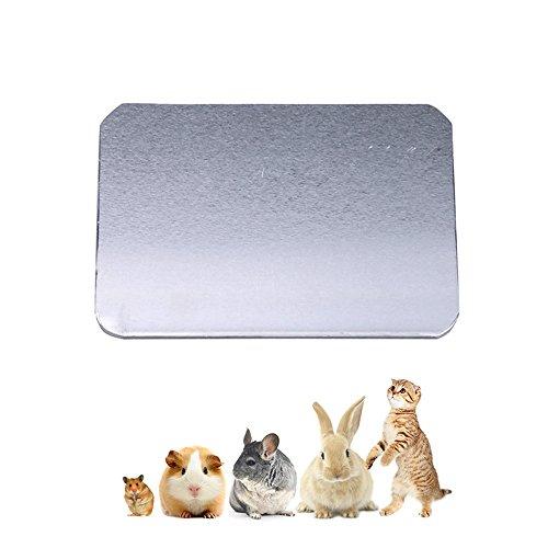 Amakunft Klein Animal Kühlkissen, Sommer Eis Bett Kühlschrank hält Haustiere Kühl, 3Größen Kühlmatte Kätzchen, Kaninchen, Bunny, Meerschweinchen, Hamster, Chinchilla Andere Haustiere