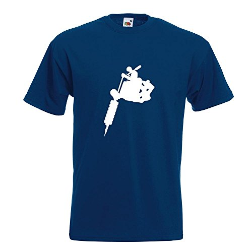 KIWISTAR - Tätowiermaschine T-Shirt in 15 verschiedenen Farben - Herren Funshirt bedruckt Design Sprüche Spruch Motive Oberteil Baumwolle Print Größe S M L XL XXL Navy