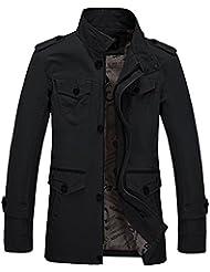 Zicac06-Manteau&Trench en coton de mélange homme manches longues