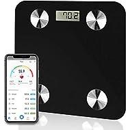 Futura Bluetooth Bathroom Body Fat BMI Scales, Digital Weighing iOS & Android (Black)