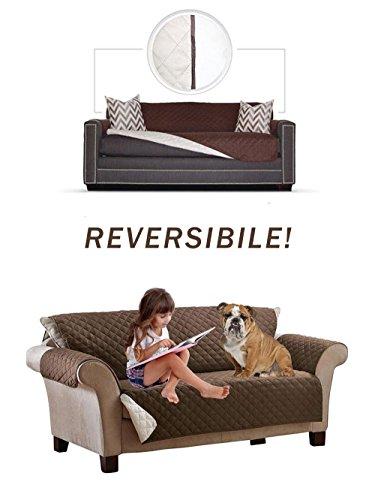 Vetrineinrete® copridivano per animali 3 piazze reversibile double face copertura per divani protegge da peli di cani e gatti polvere graffi e macchie c9