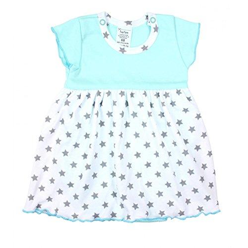 TupTam Baby Mädchen Body-Kleid Kurzarm Sommerkleid Baumwolle, Farbe: Sterne Mintgrün, Größe: 86
