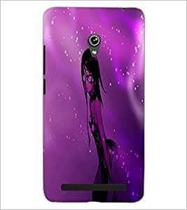PrintDhaba Stylish Girl D-4008 Back Case Cover for ASUS ZENFONE 6 A601CG (Multi-Coloured)