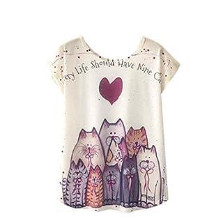 Luckycat Neuer Summer Frauen T-Shirt Harajuku Kawaii süße Art Schöne Katze T-Shirt mit Druck Neue Tops mit kurzen Ärmeln Größe M l, XL Mode 2018