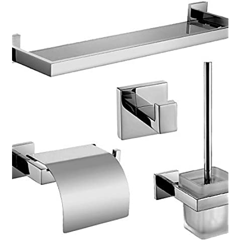 Accessori da bagno qmm, Setdi accessori da bagno/Porta cartaigienica/Ganci appendiabiti/Mensole