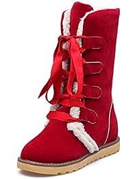 2016 Nouvelle bas tube de bottes laine bouche plat avec anti-dérapant bottes de neige la mode étudiante sauvage-39