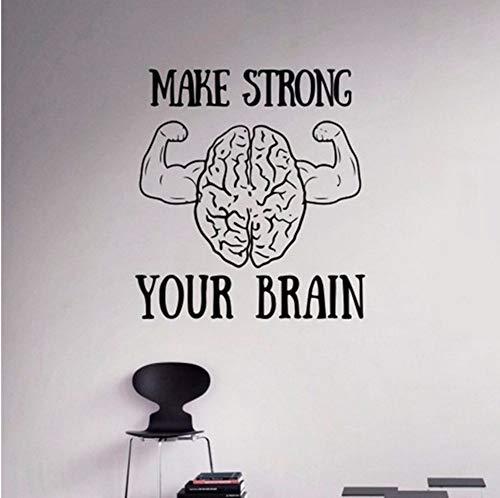 Lsfhb Motivation Zitieren Stark Machen Ihr Gehirn Wandtattoo Inspiration Wandaufkleber Wand Sprüche Home Interior Wall Graphics 42X45 Cm