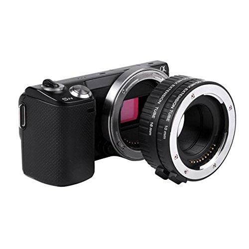 Rosa Eidechse Weihe dg-nex Auto Focus AF Macro Extension Tube Ring 10mm 16mm Set Metall Halterung für Sony E-Mount Objektiv