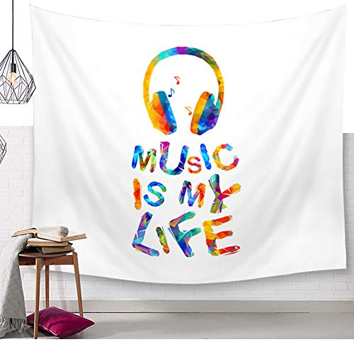 Helle Farbige Musik Noten Wandteppich Klavier Tastatur Aquarell Wandkunst Tapisserie Böhmische Wandbehang Mandala Musik Kultur Wanddecke Hippie Bunte Wandtuch Tischdecke Tagesdecke Pattern6 80 * 59in