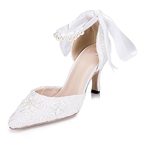 Kevin Fashion , Chaussures de mariage tendance femme - Blanc - blanc, 36.5