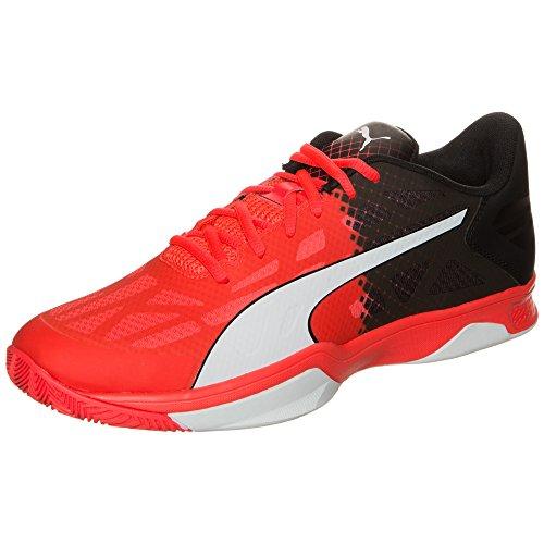 Puma Evospeed Indoor 3.5, Chaussures de Fitness Mixte Adulte Rouge/noir/blanc