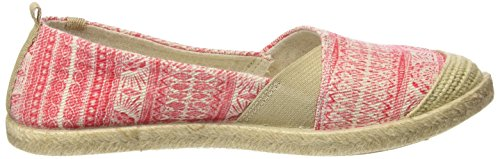 Roxy Flamenco, Espadrilles Femme Rouge (RED/WHITE)
