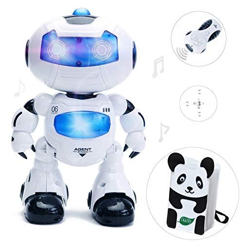 Intelligente und charismatische tanzen ferngesteuerte roboter mit musik und licht für kinder, disco und jubel - roboter, blitzende augen und brust