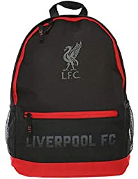 Liverpool FC Mochila LFC Negro/Rojo Bolsillo Frontal LFC Oficial