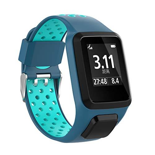 Felicy Armband, Silikon Ersatzband für TomTom Adventurer/Golfer2/ Runner 3 Uhr (E)
