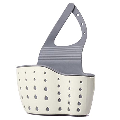 Gosear Soft Hängen Küche Waschbecken Drain Pinsel Inhaber Badezimmer Speicher Korb Veranstalter Tasche Rack B (Badezimmer-speicher-körbe)