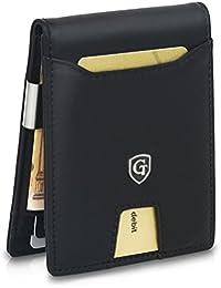 GenTo® Herren Designer-Geldbörse Monaco mit Geldklammer und Münzfach - RFID und NFC Schutz mit TÜV - Innovativer Geldbeutel mit Schiebefach - Geschenk für Männer - mit Geschenkbox | Design Germany …