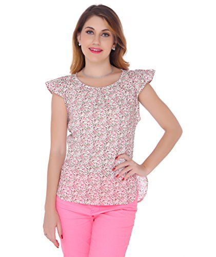 Bedazzle Casual Cape Sleeve Woven Women's Top