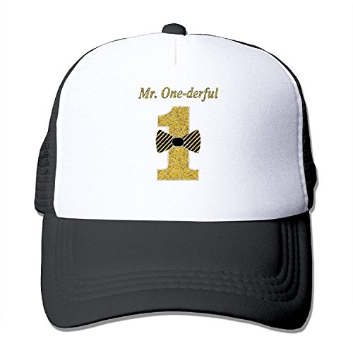Broderick Tate Mr.ONE-Derful Toddler-Mr.Onederful Designed Baseball Caps -