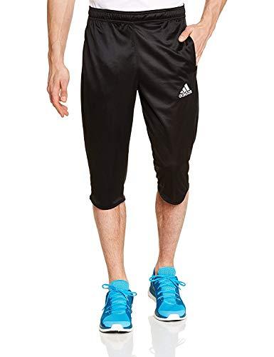 adidas Herren Shorts - Climalite für EIN angenehmes Tragen beim Sport - Sehr hoher Coref ¾ Hose für Männer - Trainingshose - Atmungsaktiv und leicht (Schwarz, L) -