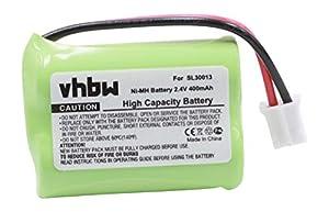recambios telefonia movil: vhbw NiMH batería 400mAh (2.4V) para teléfono fijo inalámbrico Audioline DECT 75...