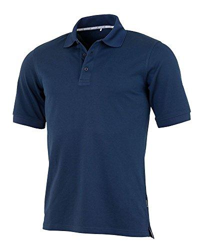 agon - Premium Herren Pique Polo-Shirt, bügelfrei, Coolmax, Coldblack, UV-Schutz, Geruchsblocker, atmungsaktiv, Kurzarm Marine 52/L