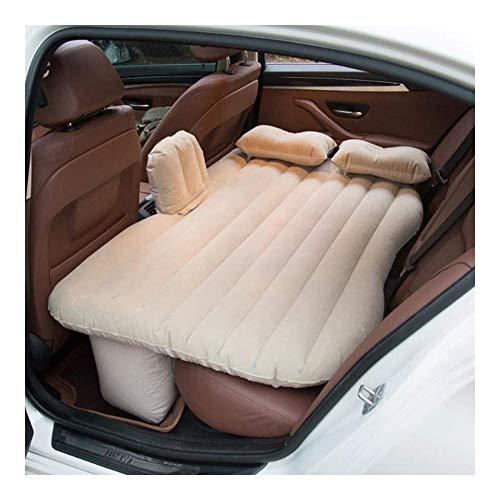 LALAWO Luftmatratze, aufblasbares Bett des Autos, beflockte Autoluftmatratze mit Luftpumpe und Zwei aufblasbaren Kissen passend for Autoreisen oder das Kampieren -